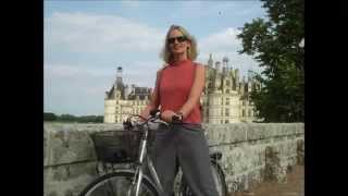 Blonde solo bike ride, Château de Chambord, France