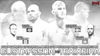 UFC Fight Night 109: Gustafsson vs Teixeira Predictions- Kamikaze Overdrive MMA