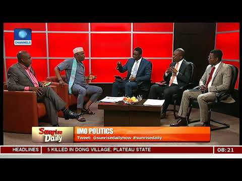 Imo Governorship Race And Endorsement Controversies Pt.3 |Sunrise Daily|