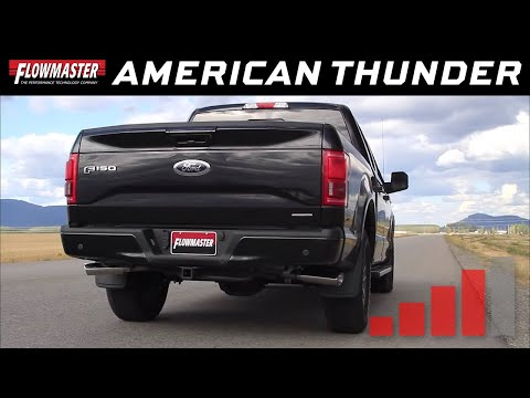 2015-19 Ford F150 5.0L TiVCT Flowmaster American Thunder Cat-back Exhaust #817725