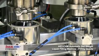 Ideal-Pak AE2-CAM Automatic Net Weight Liquid Filling Machine