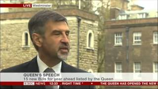 State Opening of Parliament- Romanian & Bulgarian Ambassadors on BBC News