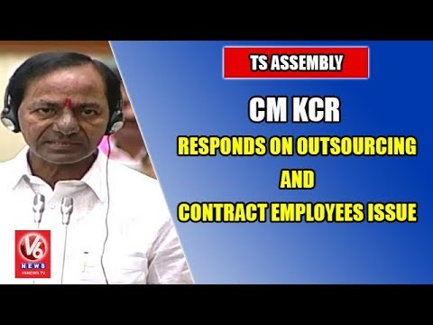 TS Assembly | CM KCR Responds On Outsourcing And Contract Employees Issue | V6 News