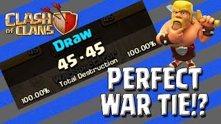 Clash of Clans - Perfect War TIE?! 3 Stars everywhere! War Recap for 6300 Dragons