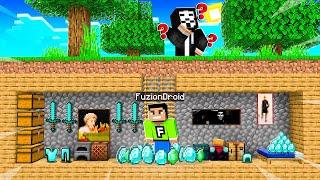 Minecraft PE : I FOUND A HACKERS SECRET BASE in Minecraft!