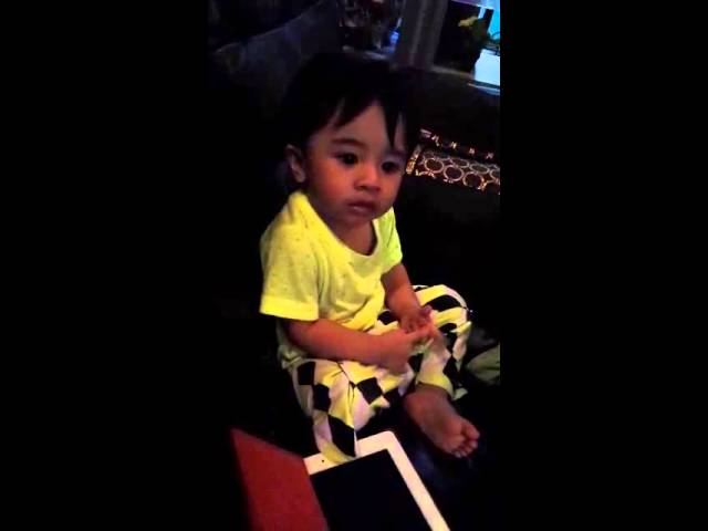 Cute baby watching tegar on tv Travel Video