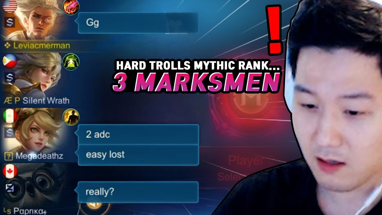Layla? 3 Marksman?? People trolling my Natan... | Mobile Legends