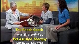 The Pooch Coach Pet Assisted Therapy With Share-a-pet - Kron4, May 2007