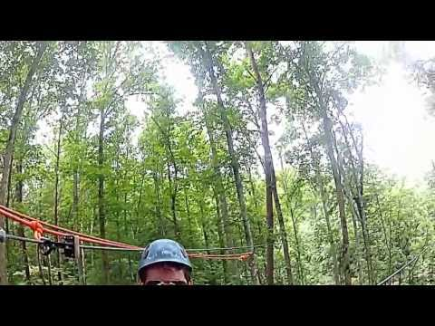 Waterfall zip at Foxfire in the Smokys