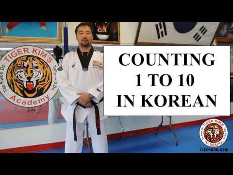 Tiger Kim's Academy Korean numbers counting 1 to 10 in Taekwondo