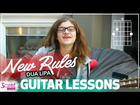New Rules - Dua Lipa | Easy Guitar Songs for Beginners & Chords (by Sophie Pecora)