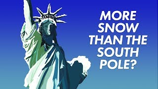 Why New York gets more snow than the south pole
