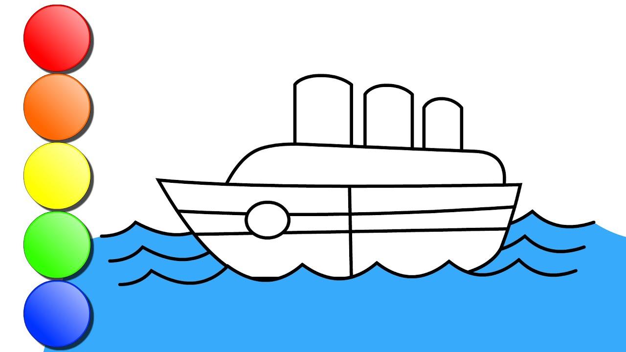 cara menggambar kapal tanker menggambar mudah untuk anak ...