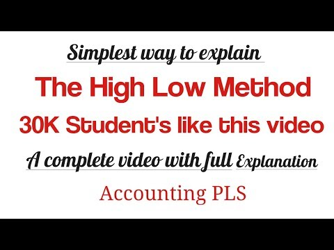 The High Low Method for estimating mixed costs in accounting