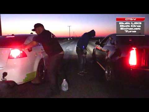 Supercharged Pontiac G8 vs Cadillac CTS-V