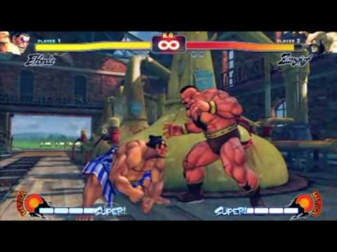 Street Fighter IV : E. Honda Moves Exhibition - YouTube