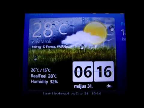 Weather & Clock for Windows Phone 7 Series
