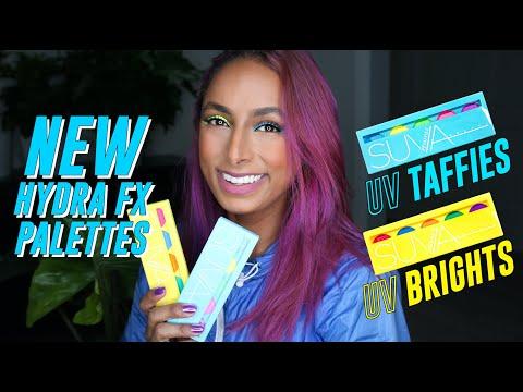 UV Taffies and UV Brights - SUVA Beauty's NEW Hydra FX (UV) Cake Liner Palettes!