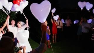 Wypuszczanie balonów LED na weselu - Brynica k. Opola 28.06.2017