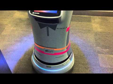 Aloft hotel robot butler that brings you room service.