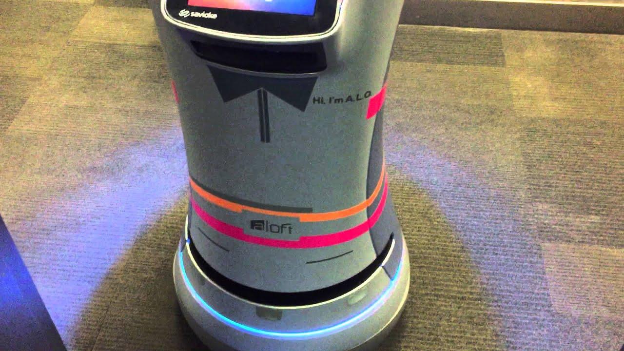 Aloft hotel robot butler that brings you room service