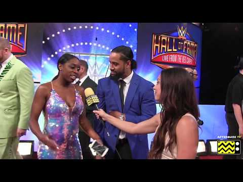 WWE Hall of Fame 2018 Interview with Naomi & Jimmy Uso   AfterBuzz TV Network Wrestling & Sports
