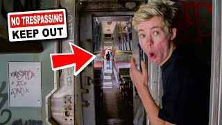 DON'T Sneak into a Haunted Train MID-DAY... (WE GOT COMPANY)