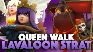 Learn How To Queen Charge Lavaloon Attack | Strategy For High Level Heroes | Clash Of Clans