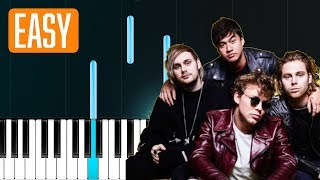"5 Seconds Of Summer - ""More"" 100% EASY PIANO TUTORIAL"