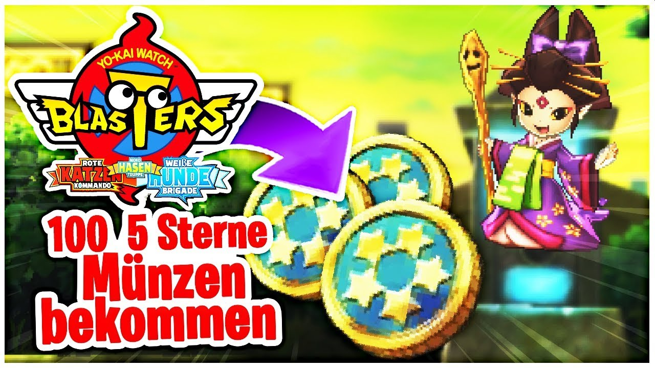 100 5 Sterne Münzen Durch Qr Codes Bekommen Yo Kai Watch Blasters Deutsch