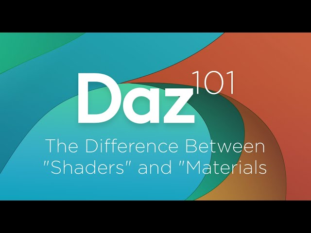 "Daz 3D Tutorial: The Difference between ""Shaders"" and ""Materials"