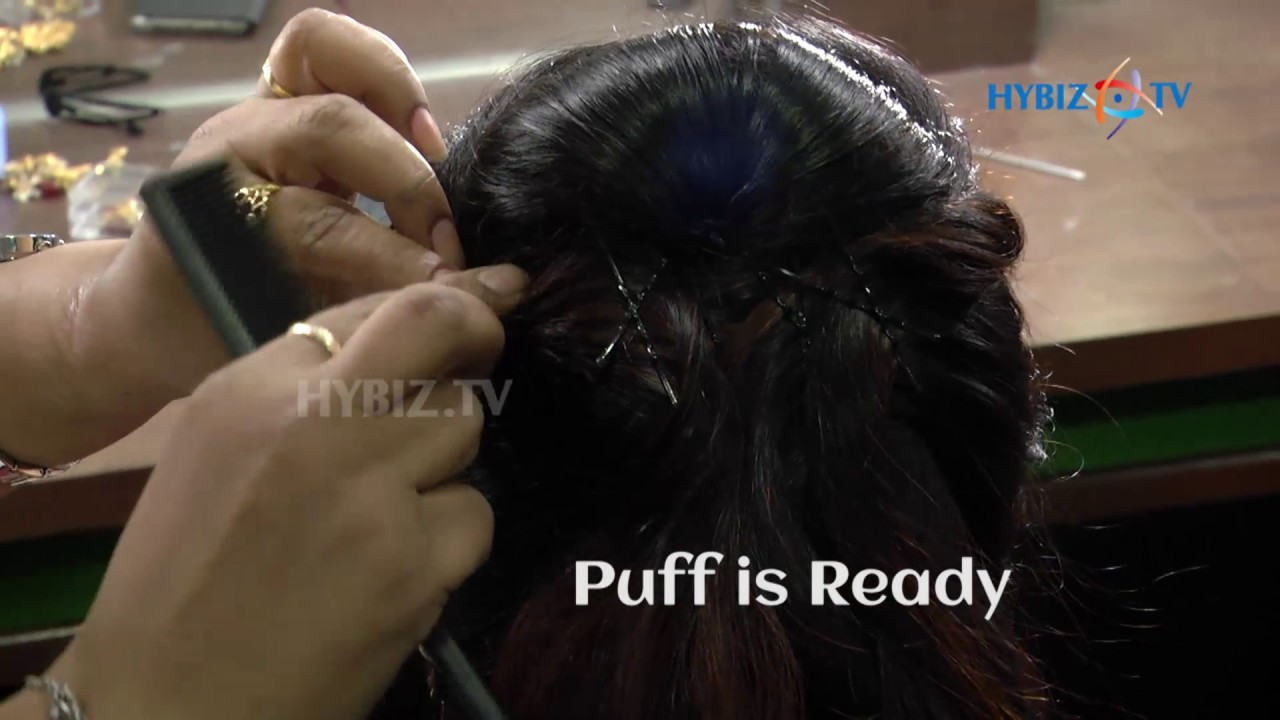 fabulous muslim bridal hairstyle | lakme salon | step by step