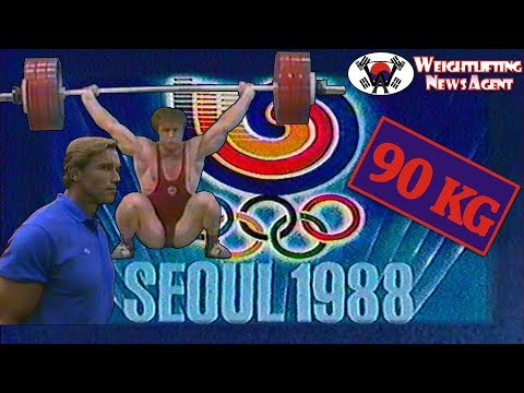 Olympic Weightlifting 1988 Seoul | 90KG | Special guest: Arnold Schwarzenegger