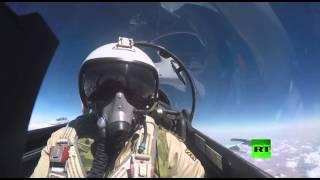 بالفيديو.. طلعة حربية كاملة لطائرة سوخوي روسية في سوريا