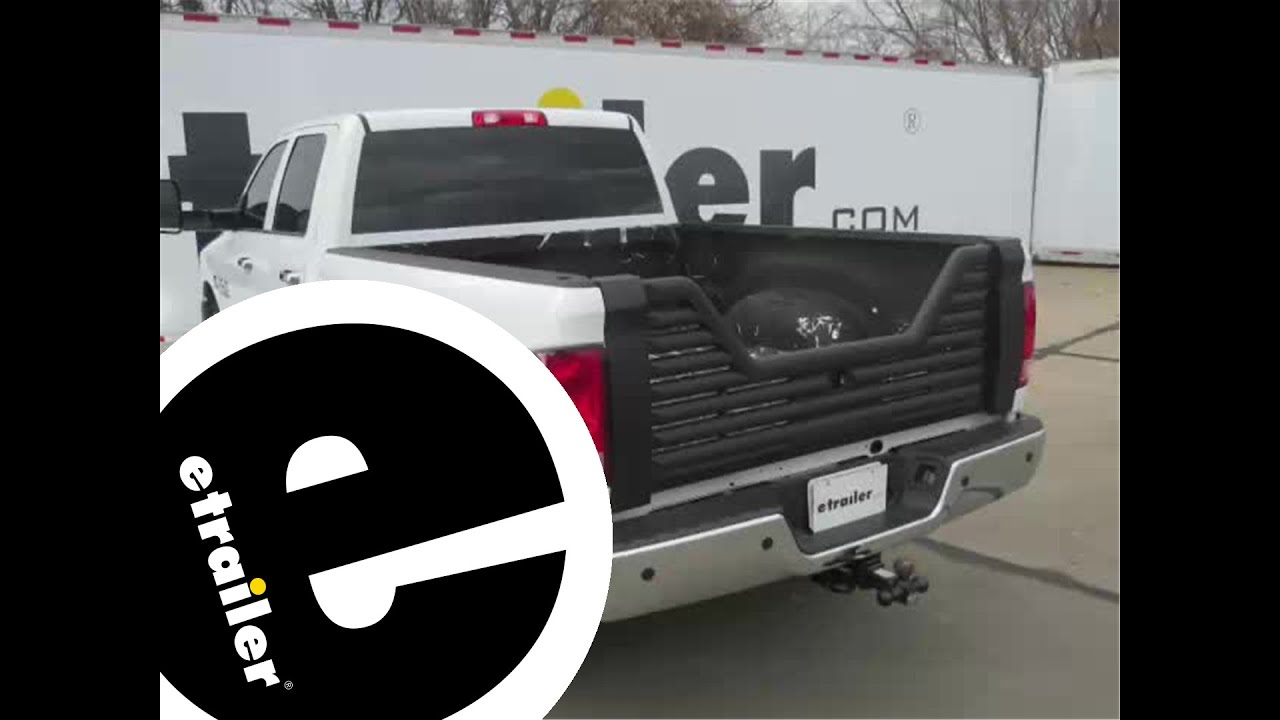 Installation of the stromberg carlson 5th wheel louvered tailgate on a 2016 ram 3500 etrailer com
