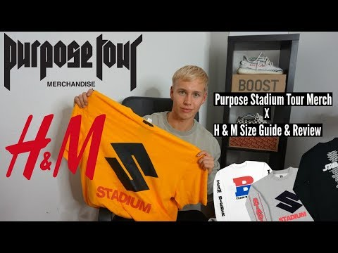 Purpose Tour Stadium Merch Review