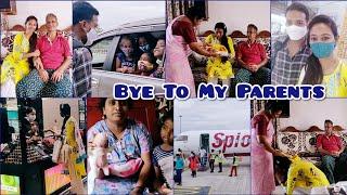 #Vlog   Mixed Feelings   Flight Journey Lo Sudarsan Nannu Adigina Question😥   As😘
