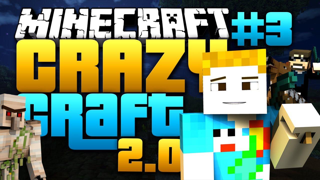 Minecraft crazy craft 2 0 3 villain crainer begins youtube