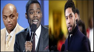 "Chris Rock roast tf out Jussie Smollett, ""We sick boss?"" Charles Barkley pissed charges we"