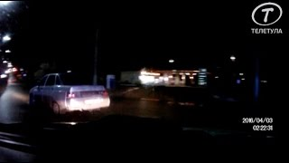 Опубликована запись погони за пьяной автоледи в Туле