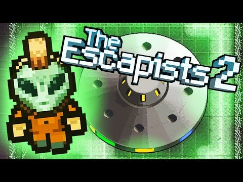 ALIEN BLITZ Escapes AREA 17! - I Am Human Escape! - The Escapists 2 Gameplay