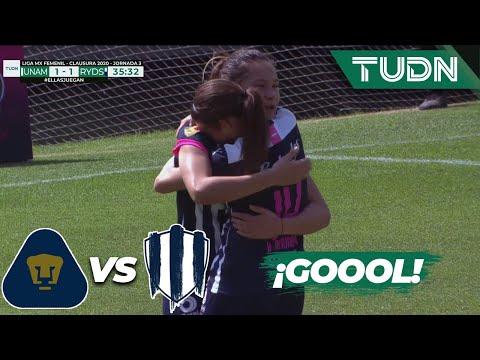 ¡Goool de Monterrey! Desire empata | Pumas 1 - 1 Monterrey | Liga Mx Femenil - CL 2020 J-3 | TUDN