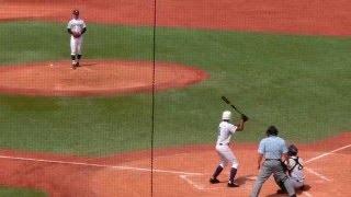 第97回全国高校野球選手権東東京大会 決勝 関東第一 オコエ瑠偉 4回 第三打席 センター前ツーベースヒット