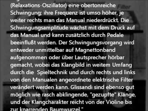 Elektronisches Monochord - Friedrich Trautwein - NWDR 1954