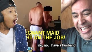 Pregnant Maid CAUGHT F***King on THE JOB! HUSBAND WATCHES!