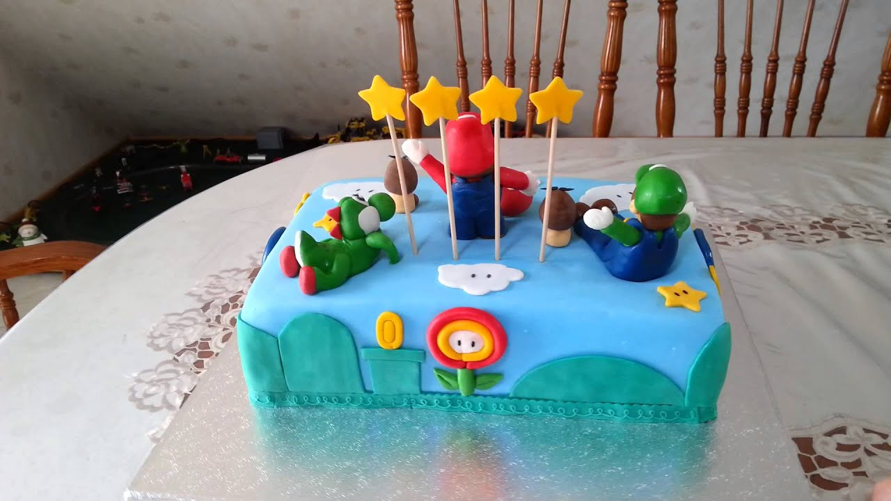 super mario torte fondant torte birthday cake nintendo youtube. Black Bedroom Furniture Sets. Home Design Ideas