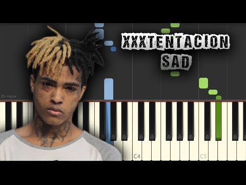 XXXTENTACION - Sad! - [Piano Tutorial] (Synthesia) (Download MIDI + PDF Sheets)
