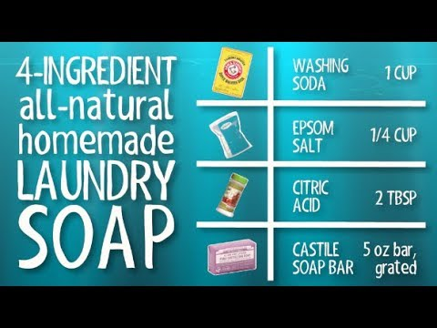 Simple Borax Free Homemade Laundry Detergent