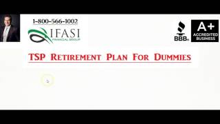 TSP Retirement Plan - TSP Retirement Plan for Dummies
