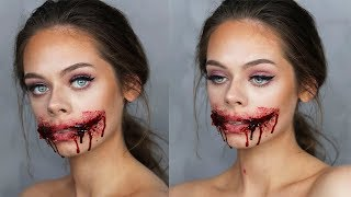 CHELSEA SMILE / Ripped Mouth SFX Makeup Tutorial